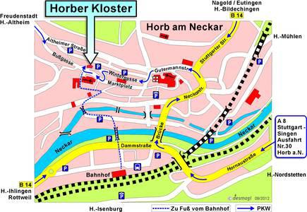 Anfahrt Kloster Horb